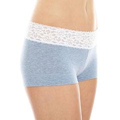 Maidenform® Cotton Dream Lace-Trim Boyshorts - 40859