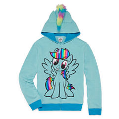 Hasbro Hooded Neck Long Sleeve My Little Pony Blouse - Big Kid Girls