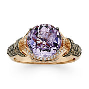 LIMITED QUANTITIES  LeVian Grand Sample Sale Genuine Amethyst and 1/2 CT. T.W. White and Chocolate Diamond® Ring