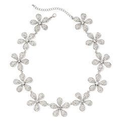 Natasha Crystal Flower Statement Necklace