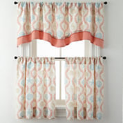 Sea Scroll Rod-Pocket Kitchen Curtains