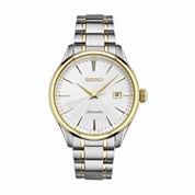 Seiko Mens Two Tone Bracelet Watch-Srp704