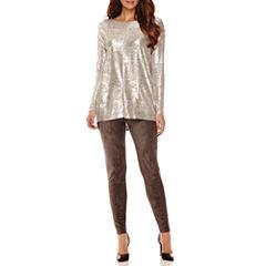 Worthington® Long-Sleeve Drop-Shoulder Tunic or Ponte Pants