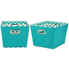 Household Essentials® Set of 2 Medium Tapered Storage Bins