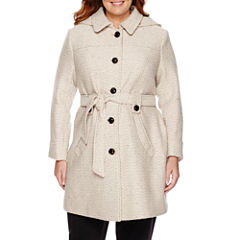Liz Claiborne Belted Wool - Plus