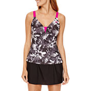 Zero Xposur® Lokoai Cage-Back Tankini Swim Top or Knit Action Skirtini Bottom​