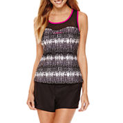 ZeroXxposur® Knit Mesh Sweetheart Tankini Swim Top or Knit Action Shorts