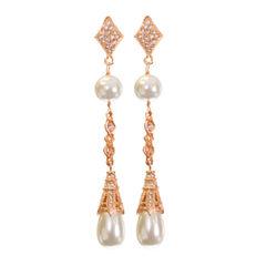 telio! by Doris Panos Rose-Tone Fantasy Simulated Pearl Earrings