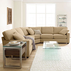 Fabric Possibilities Sharkfin-Arm 3-pc. Loveseat Sectional