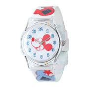 Disney Mickey Mouse Kids Print Nylon Strap Watch