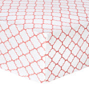 Trend Lab® Coral Quatrefoil Fitted Flannel Crib Sheet