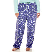 Sleep Chic Fleece Pajama Pants-Plus
