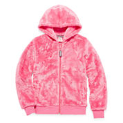 Arizona Long Sleeve Plush Full Zip Hoodie - Girls 7-16 and Plus