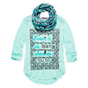 Arizona Crochet Back Top with Scarf and Necklace - Big Kid
