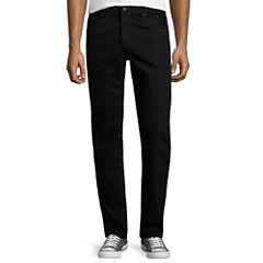 Arizona Flex Denim Slim-Fit Straight-Leg Jeans