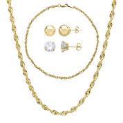 10K Yellow Gold 4-pc. Jewelry Set