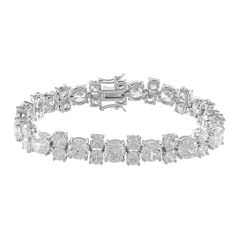 CZ by KENNETH JAY LANE Cubic Zirconia 5-Stone Pattern Bracelet