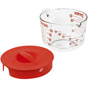 Pyrex® Prepware 8-Cup Measuring Cup with Red Plastic Lid