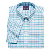 Stafford® Travel Short-Sleeve Oxford Dress Shirt - Big & Tall