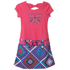 Lilt Short Sleeve Print Skirt Marsha Dress - Girls' 7-12