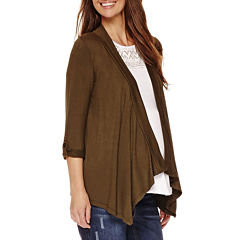 Maternity 3/4-Sleeve Open Cardigan