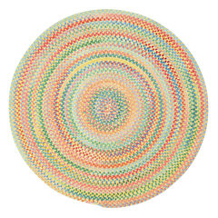 Capel Baby's Breath Reversible Braided Round Rug