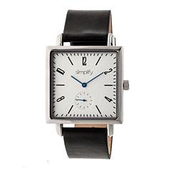 Simplify Mens Black Strap Watch-Sim5001