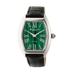 Heritor Baron Mens Black Strap Watch-Herhr6003