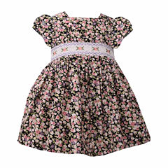 Bonnie Jean Not Applicable Short Sleeve A-Line Dress - Baby Girls