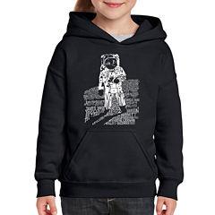 Los Angeles Pop Art Astronaut Long Sleeve Sweatshirt Girls