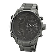 JBW The G4 Mens Diamond-Accent Gunmetal Stainless Steel Watch J6248J