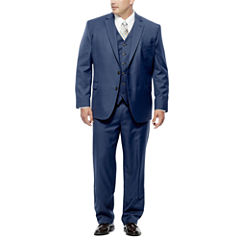 Stafford® Travel Mid Blue Suit Separates - Portly Fit