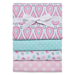 Okie Dokie Mint Receiving Blanket