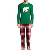 North Pole Trading Co. Knit Sleep Shirt Or Flannel Pajama Pants