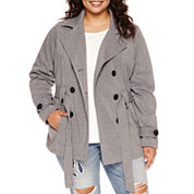 Jou Jou Multi-Zip Trench Jacket - Juniors Plus