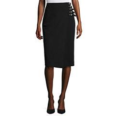 Worthington® Side-Buckle Pencil Skirt - Tall