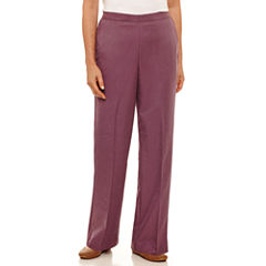 Alfred Dunner Palm Dessert Woven Flat Front Pants