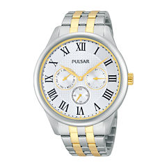 Pulsar® Traditional Mens Two-Tone Stainless Steel Watch PP6171