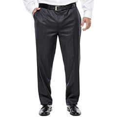 Collection by Michael Strahan Charcoal Windowpane Suit Pants - Big & Tall