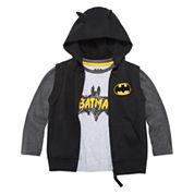 Batman 2-pc. Costume Fleece Set - Toddler 2T-5T