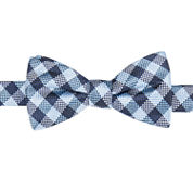 Stafford Pensacola Gingham Pre-Tied  Bow Tie