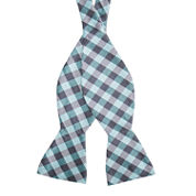 Stafford Pensacola Gingham To-Tie Bow Tie