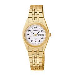 Seiko® Womens Gold-Tone Solar Watch SUT118