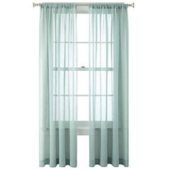 JCPenney Home™ Heather Rod-Pocket Sheer Panel