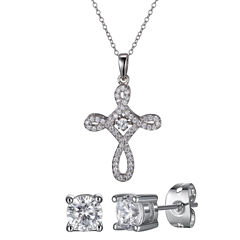 Diamonart Womens 2-pc. White Cubic Zirconia Jewelry Set