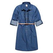 Arizona Long Sleeve Shirt Dress - Big Kid