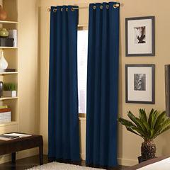 Cameron Microsuede Grommet-Top Curtain Panel