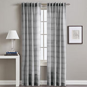 Preston Rod-Pocket Back-Tab Sheer Curtain Panel