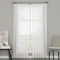 Soho Pinch-Pleat Back-Tab Sheer Curtain Panel