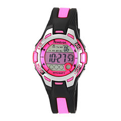 Armitron® Womens Pink Chronograph Digital Sport Watch 45/7030PNK